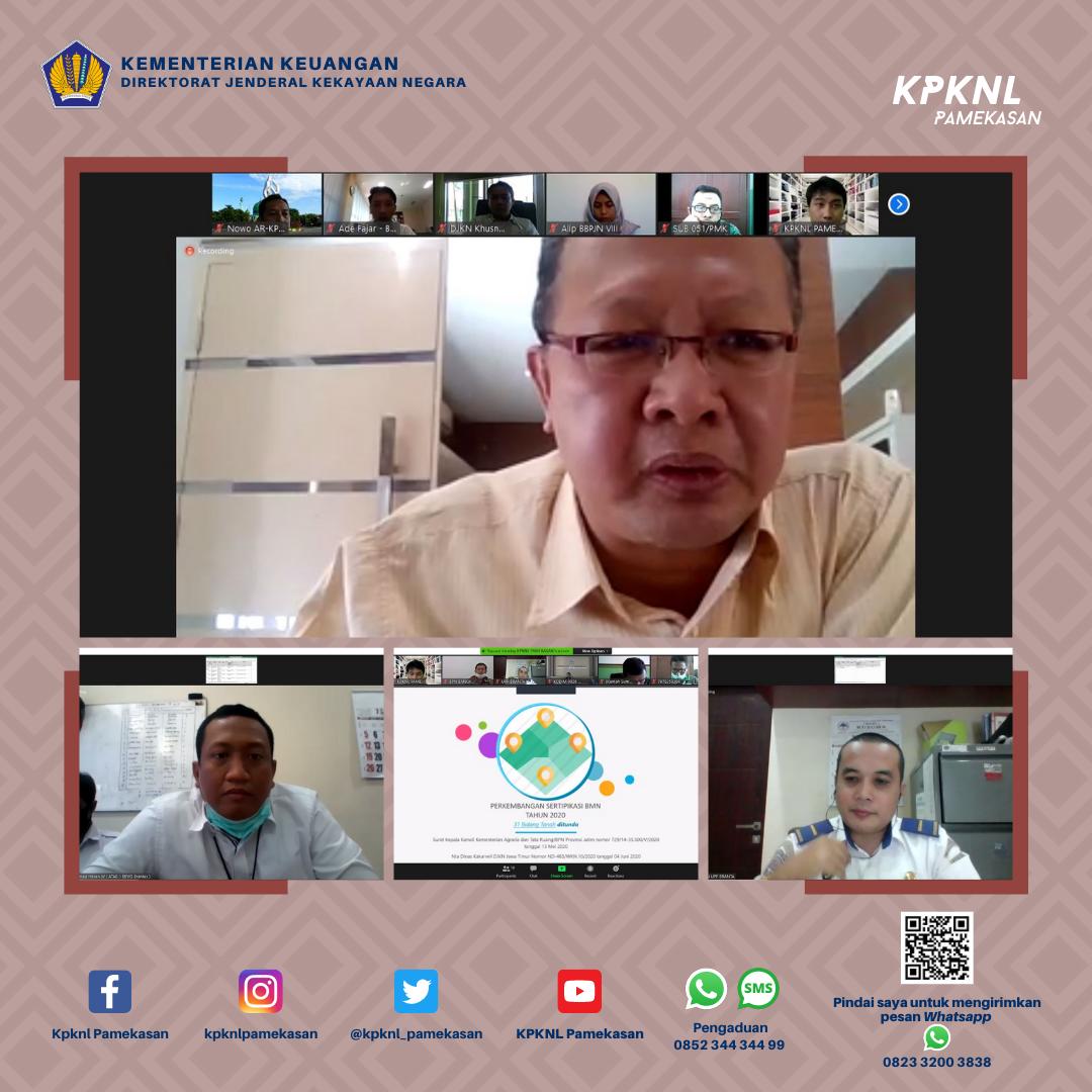 KPKNL Pamekasan Bersinergi untuk Penyelesaian Sertipikasi Tanah BMN