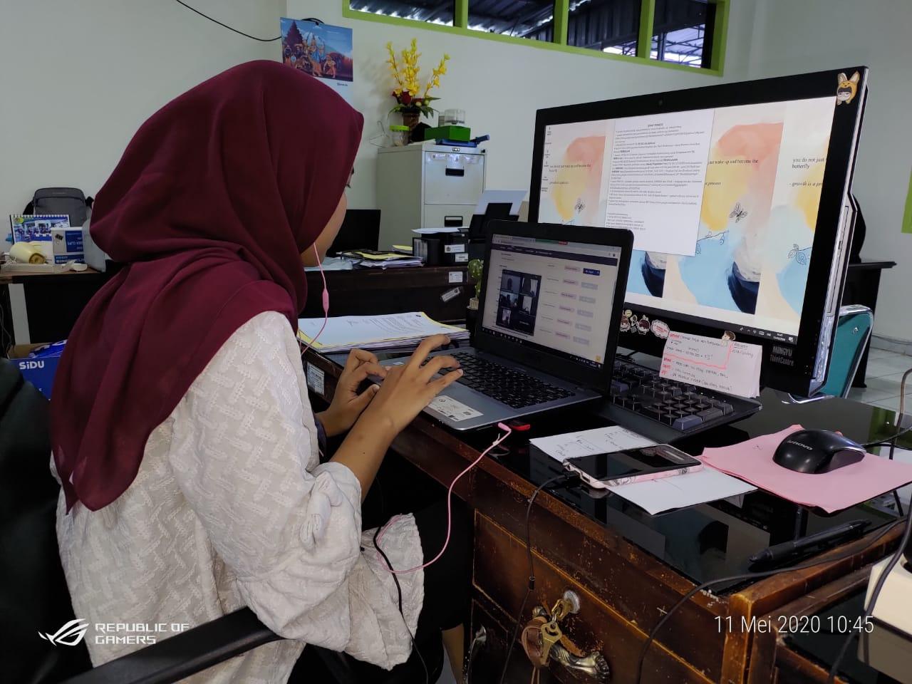 KPKNL Parepare Melakukan Edukasi Lelang di Tengah Pandemi COVID-19 Secara Online dengan Virtual Meeting