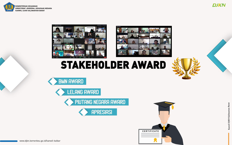 Kanwil DJKN Kalbar Menganugerahkan Stakeholder Award Melalui Virtual Meeting