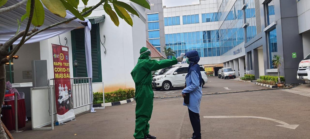 Cegah Covid-19, KPKNL Jakarta IV Lakukan Rapid Test