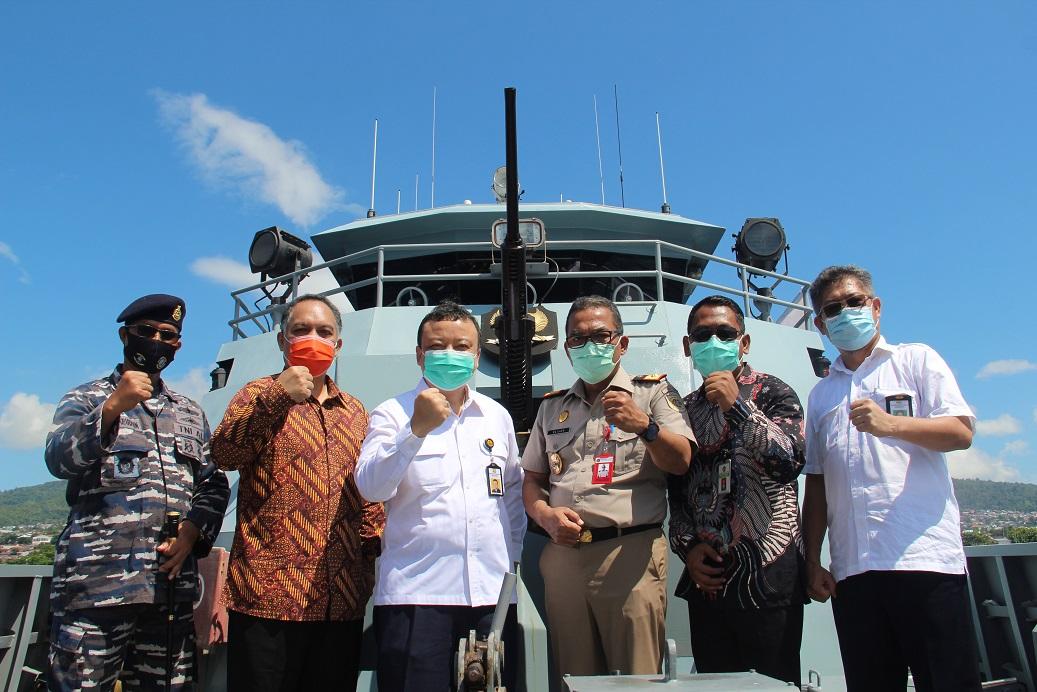 Di Atas Kapal Angkatan Laut Tidore, Kepala Kanwil Apresiasi Tercapainya Target Sertifikasi di Provinsi Maluku Utara