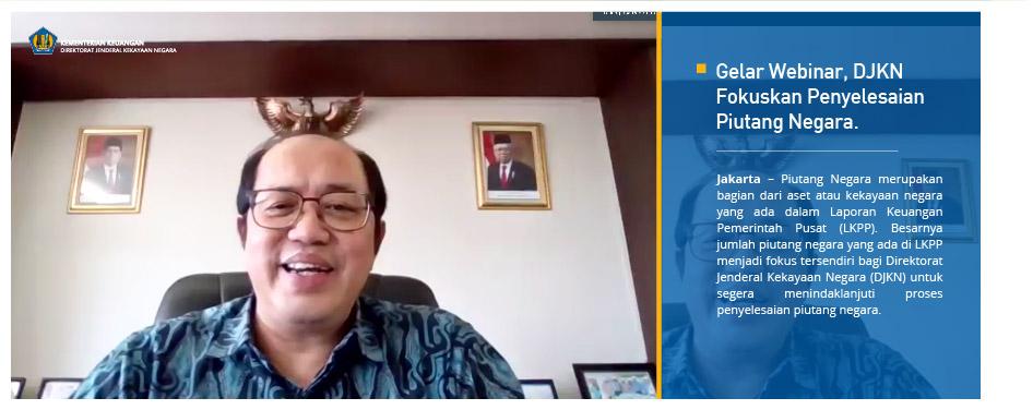 Gelar Webinar, DJKN Fokuskan Penyelesaian Piutang Negara