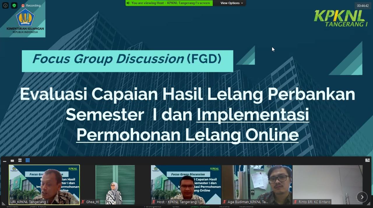 Forum Group Discussion, Membangun Intimacy untuk Produktivitas Lelang