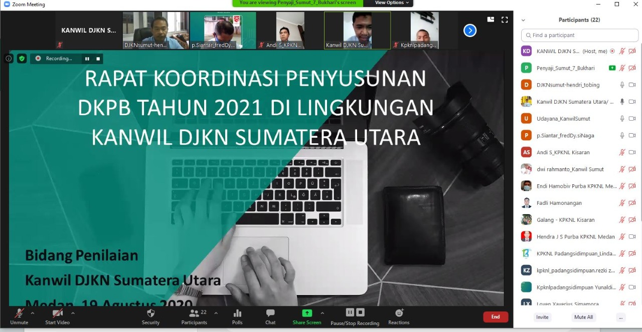 Percepat Penyusunan DKPB 2021, Bidang Penilaian Gelar Rapat Koordinasi