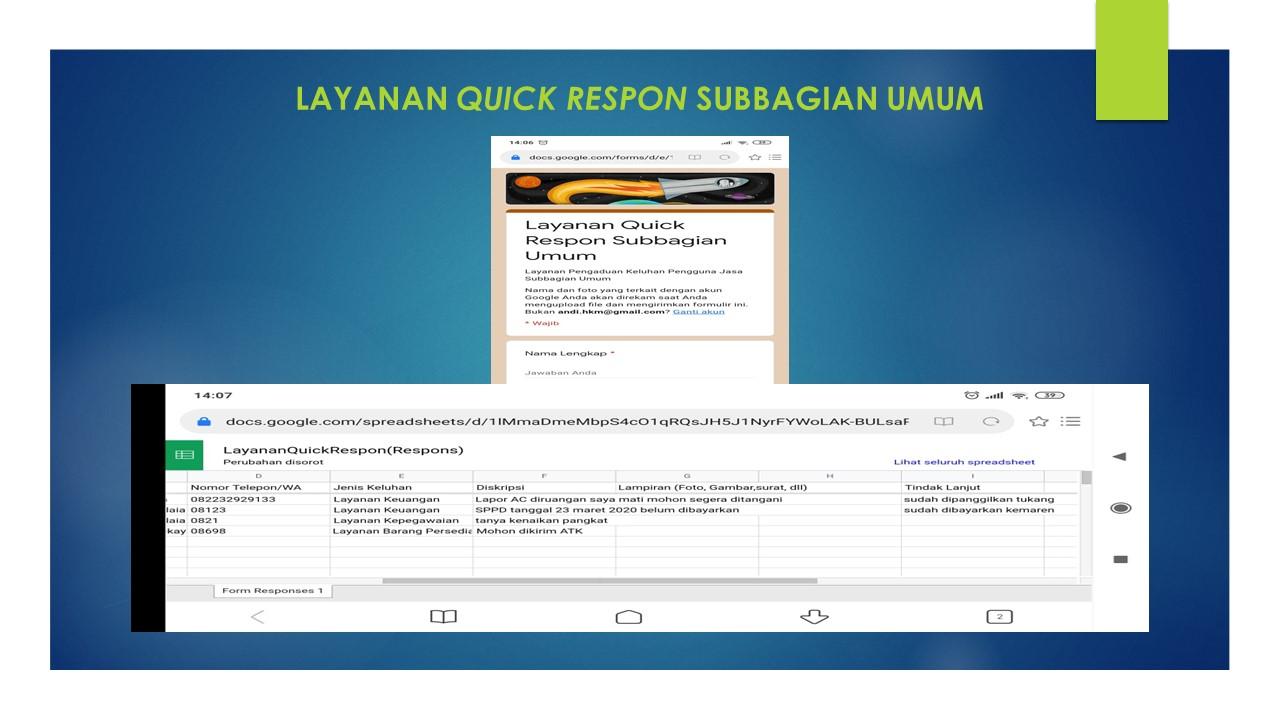 Percepatan Pelayanan Subbagian Umum melalui Layanan Quick Respon untuk Meningkatkan Pelayanan Prima KPKNL Pamekasan