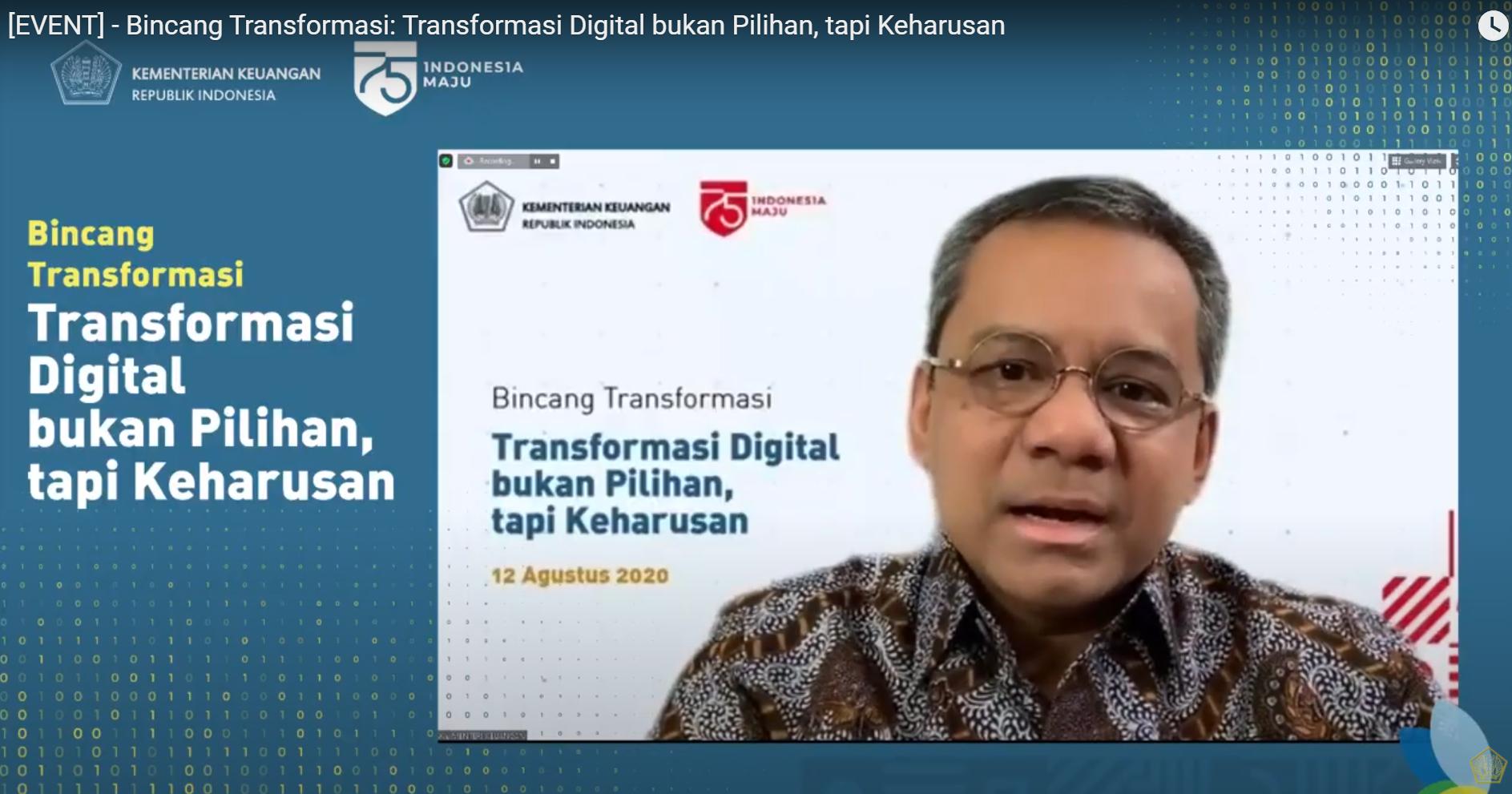 Bincang Transformasi: Transformasi Digital bukan Pilihan, tapi Keharusan