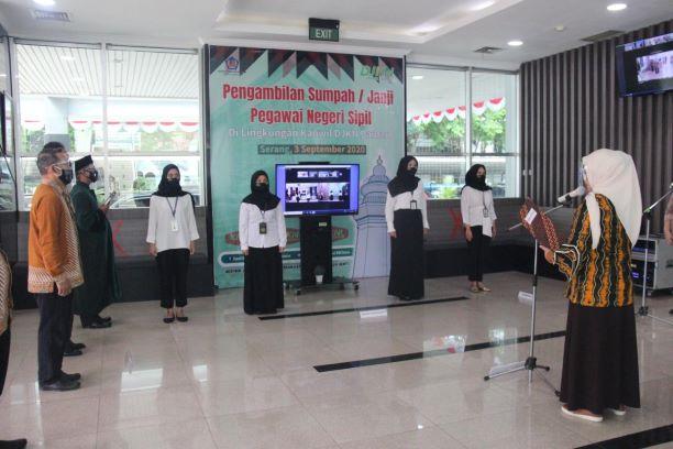 Kakanwil DJKN Banten Lantik 8 (Delapan) Srikandi Muda