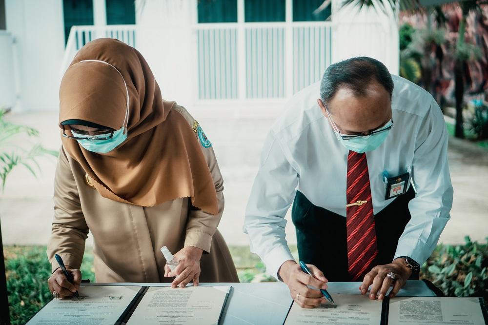Penandatanganan Perjanjian Kerjasama Pemerintah Kota Bontang - KPKNL Bontang Terkait Pertukaran Data Transaksi Tanah