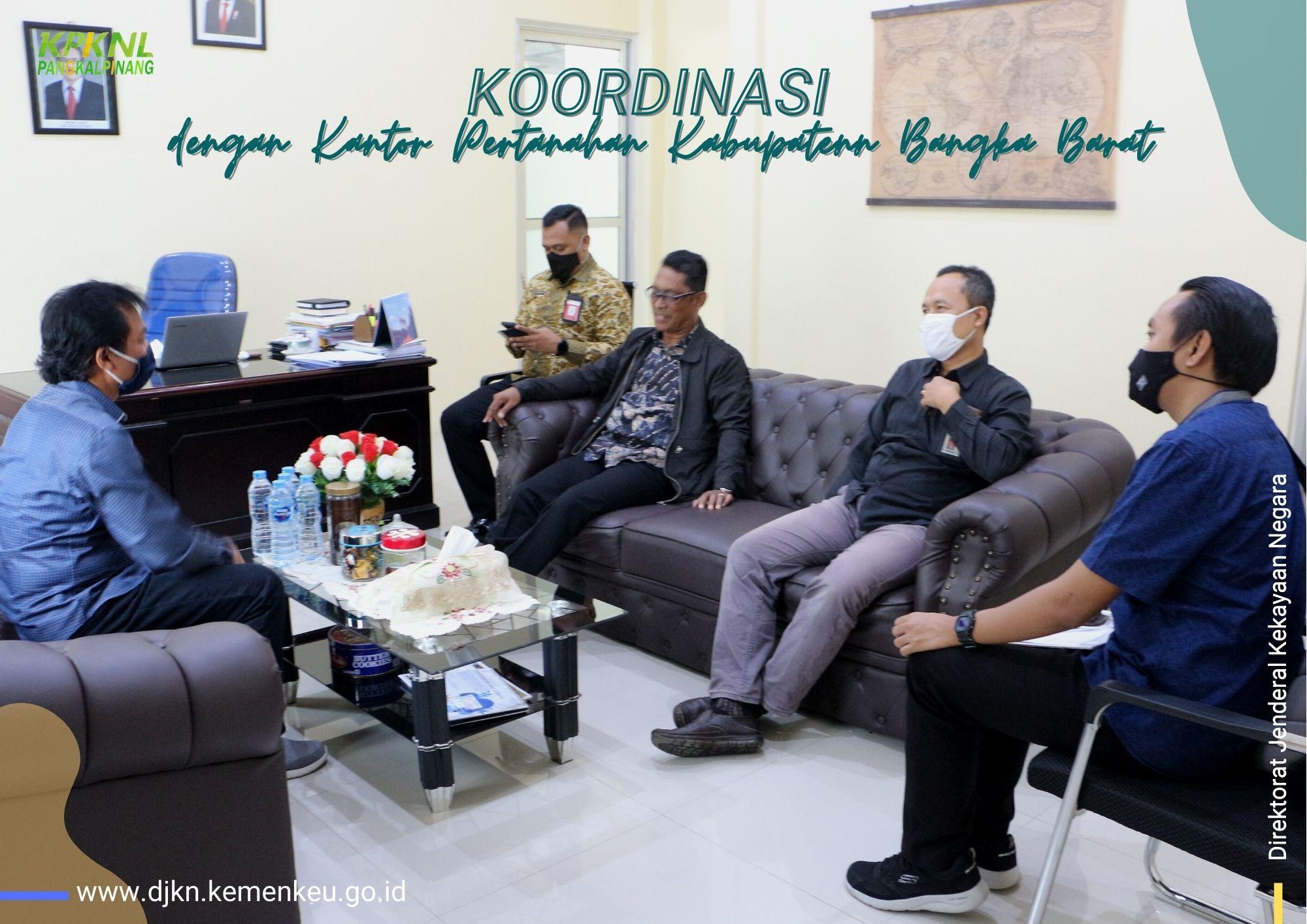 Pastikan Pencapaian Target ke Depannya, KPKNL Pangkalpinang Lakukan Koordinasi dengan Kantor Pertanahan Kabupaten Bangka Barat