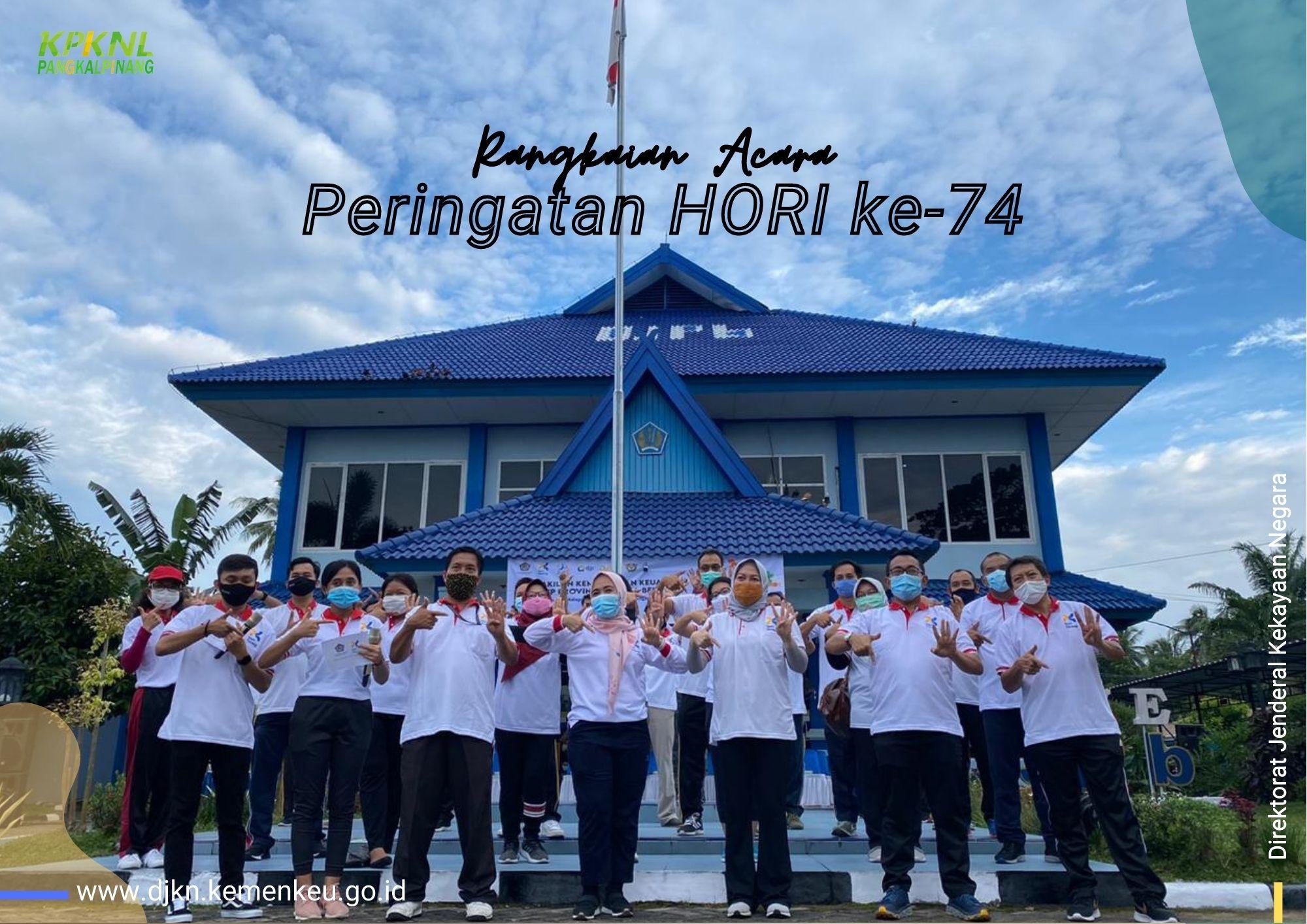 Tetap Mematuhi Protokol Kesehatan, Perwakilan Kemenkeu Kepulauan Bangka Belitung Meriahkan HORI ke-74