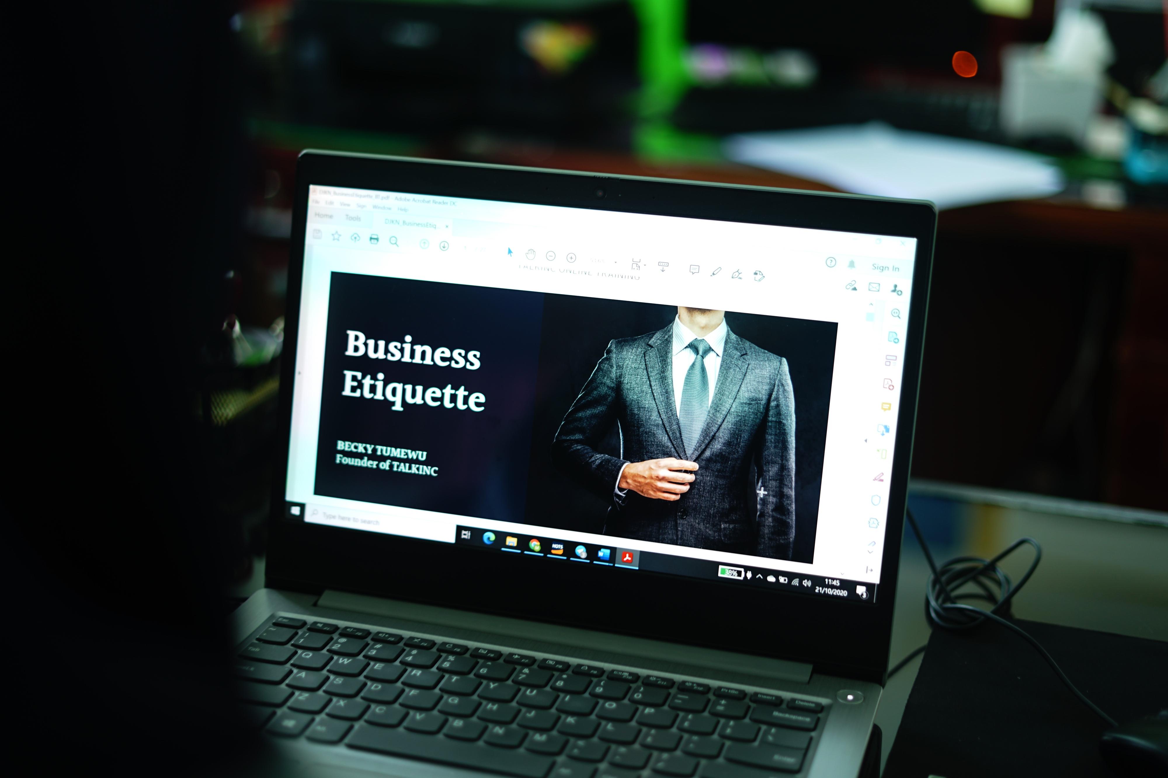 Business Etiquette Communication Skills, Part I