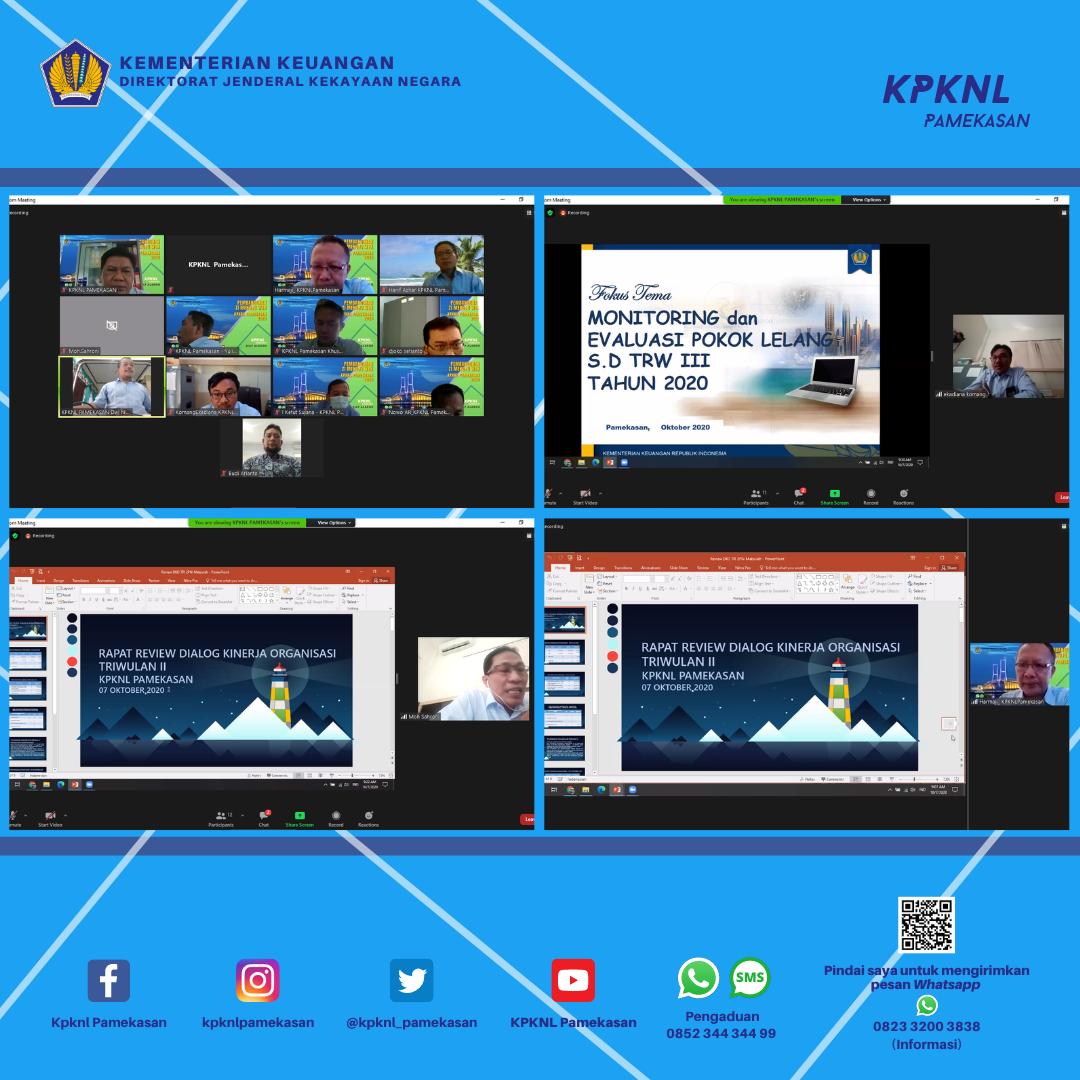Dialog Kinerja Organisasi Triwulan III 2020 KPKNL Pamekasan