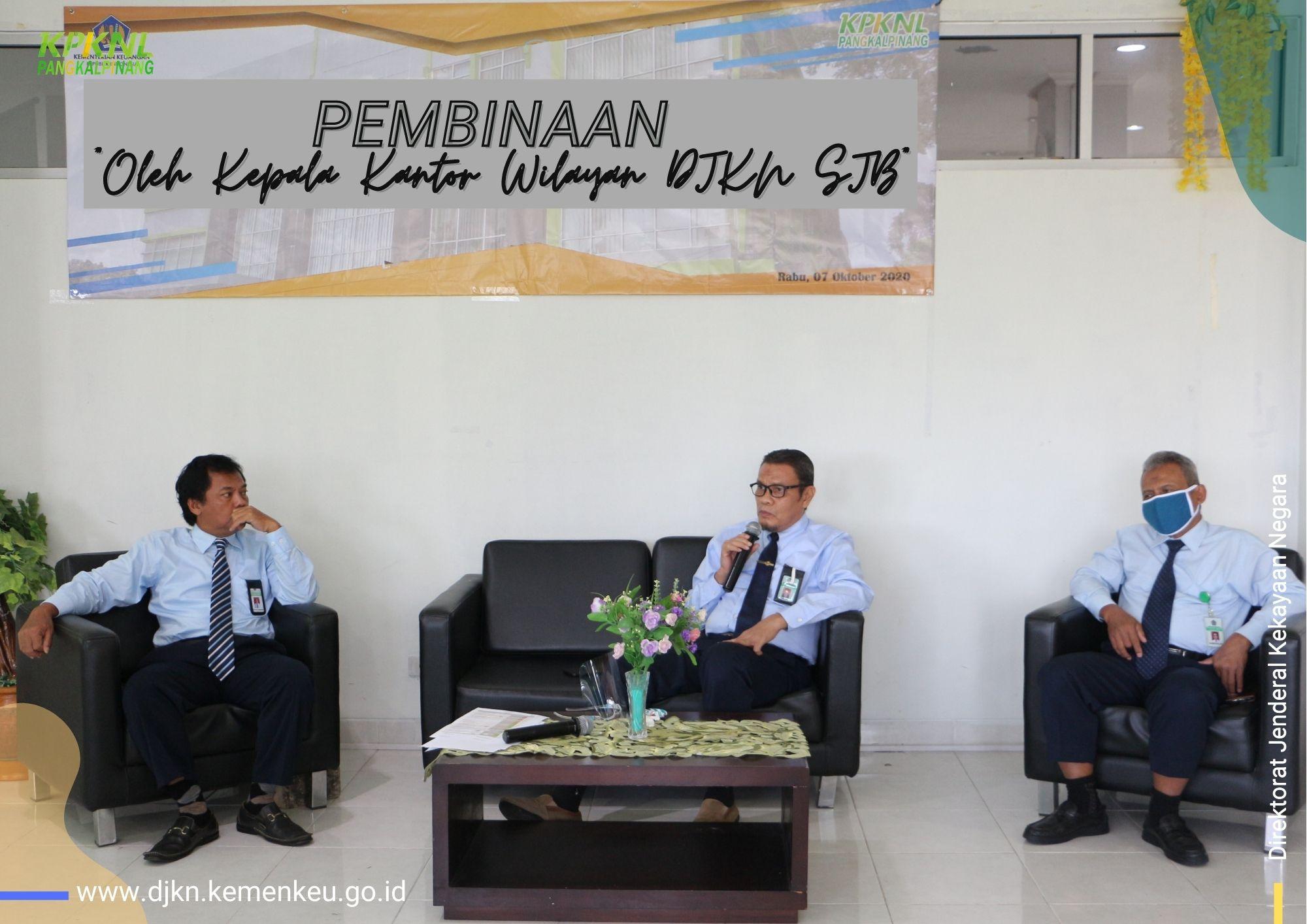 Meningkatkan Semangat Para Pegawai KPKNL Pangkalpinang Melalui Pembinaan Oleh Kepala Kanwil DJKN SJB
