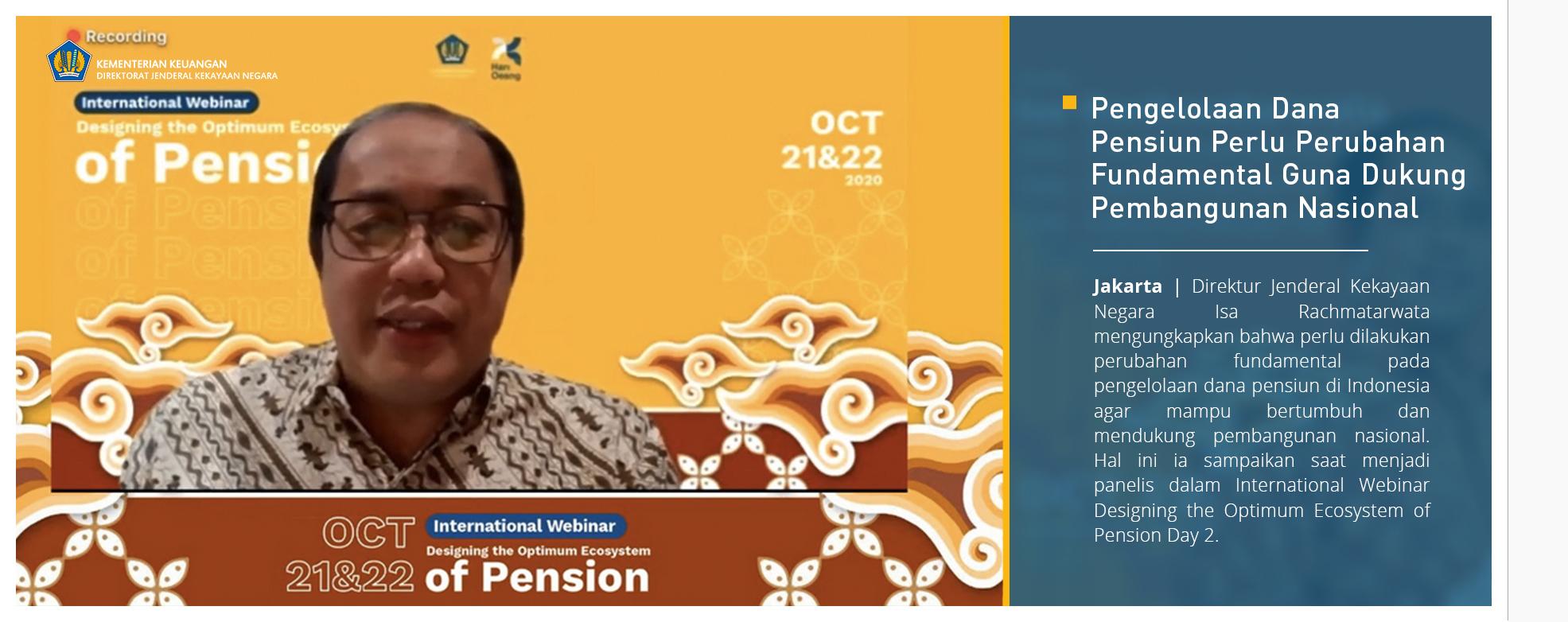 Pengelolaan Dana Pensiun Perlu Perubahan Fundamental Guna Dukung Pembangunan Nasional