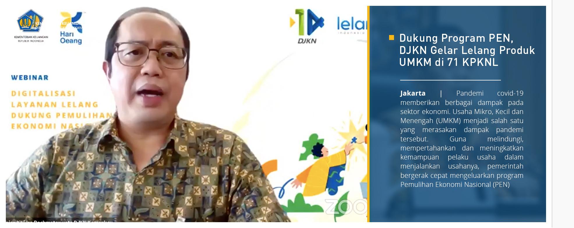 Dukung Program PEN, DJKN Gelar Lelang Produk UMKM di 71 KPKNL