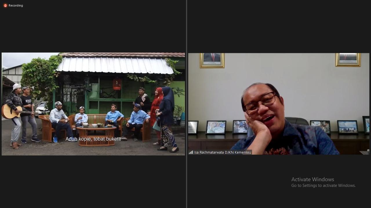 Virtual Visit Direktur Jenderal Kekayaan Negara ke KPKNL Cirebon