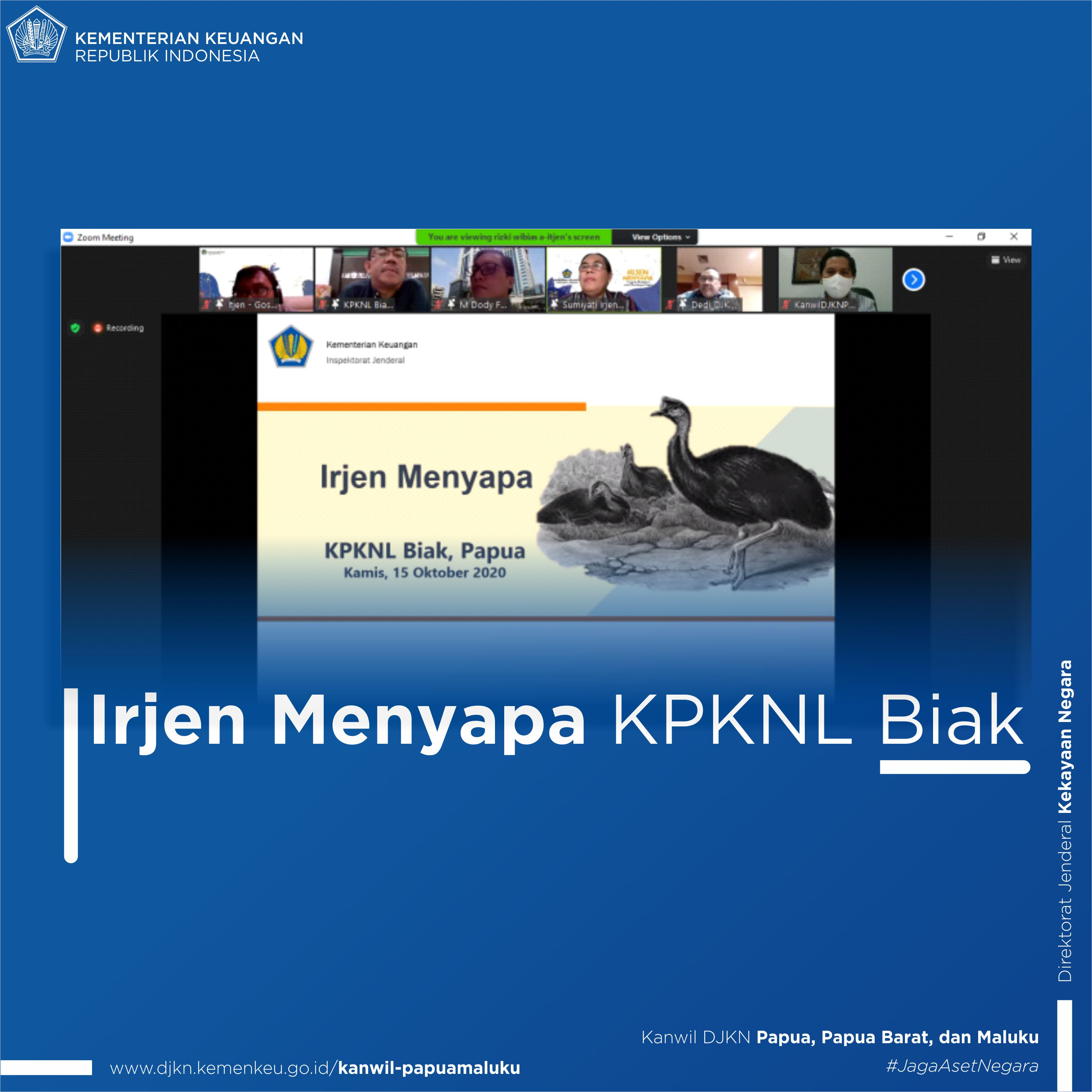 """""""Irjen Menyapa"""" KPKNL Biak"""