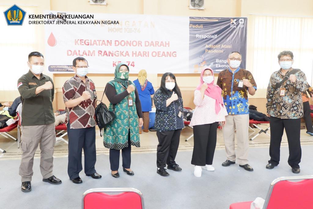 Donor Darah memperingati HORI ke-74 unit vertikal Kementerian Keuangan se-Priangan Timur