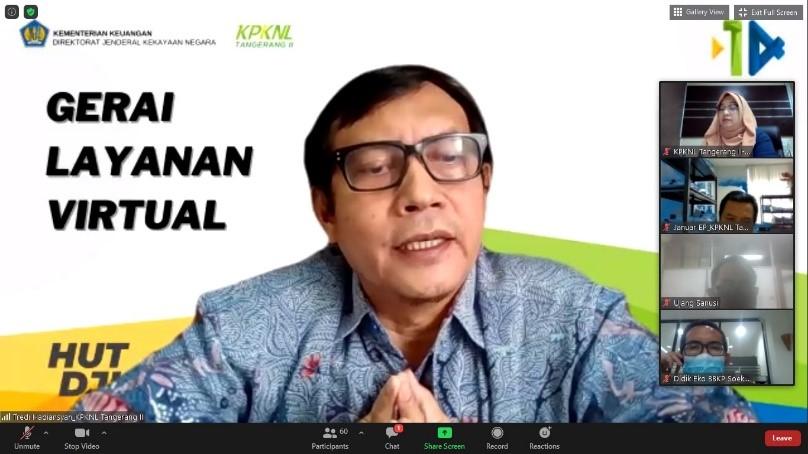 Rayakan HUT DJKN yang ke-14, KPKNL Tangerang II Gelar Gerai Layanan Virtual