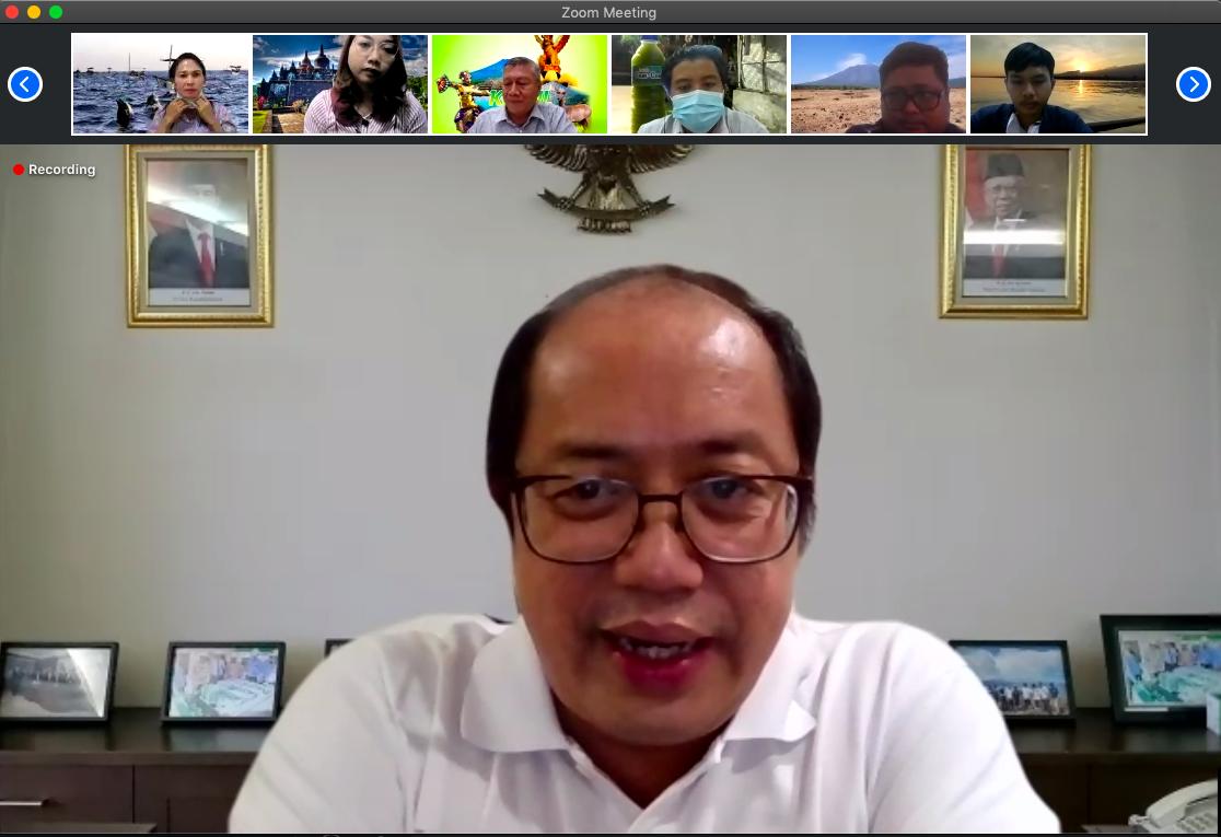 Dirjen KN sapa Jajaran KPKNL Singaraja  Secara Virtual Dengan Suasana Kekeluargaan