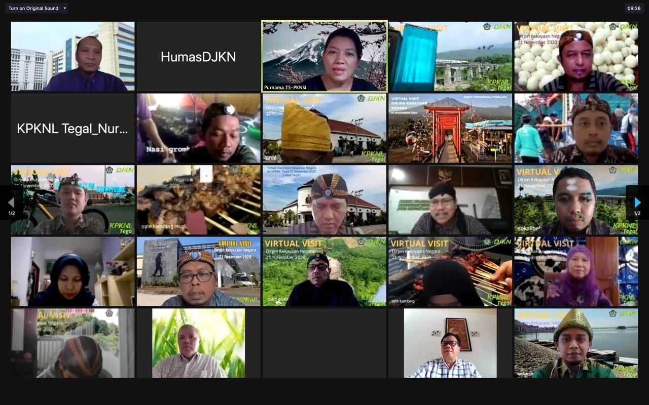 Virtual Visit Dirjen Kekayaan Negara ke KPKNL Tegal