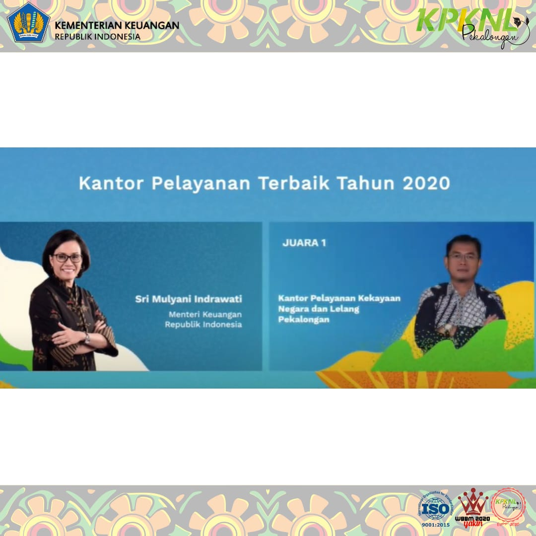 KPKNL Pekalongan Menjuari Lomba Kantor Pelayanan Terbaik 2020