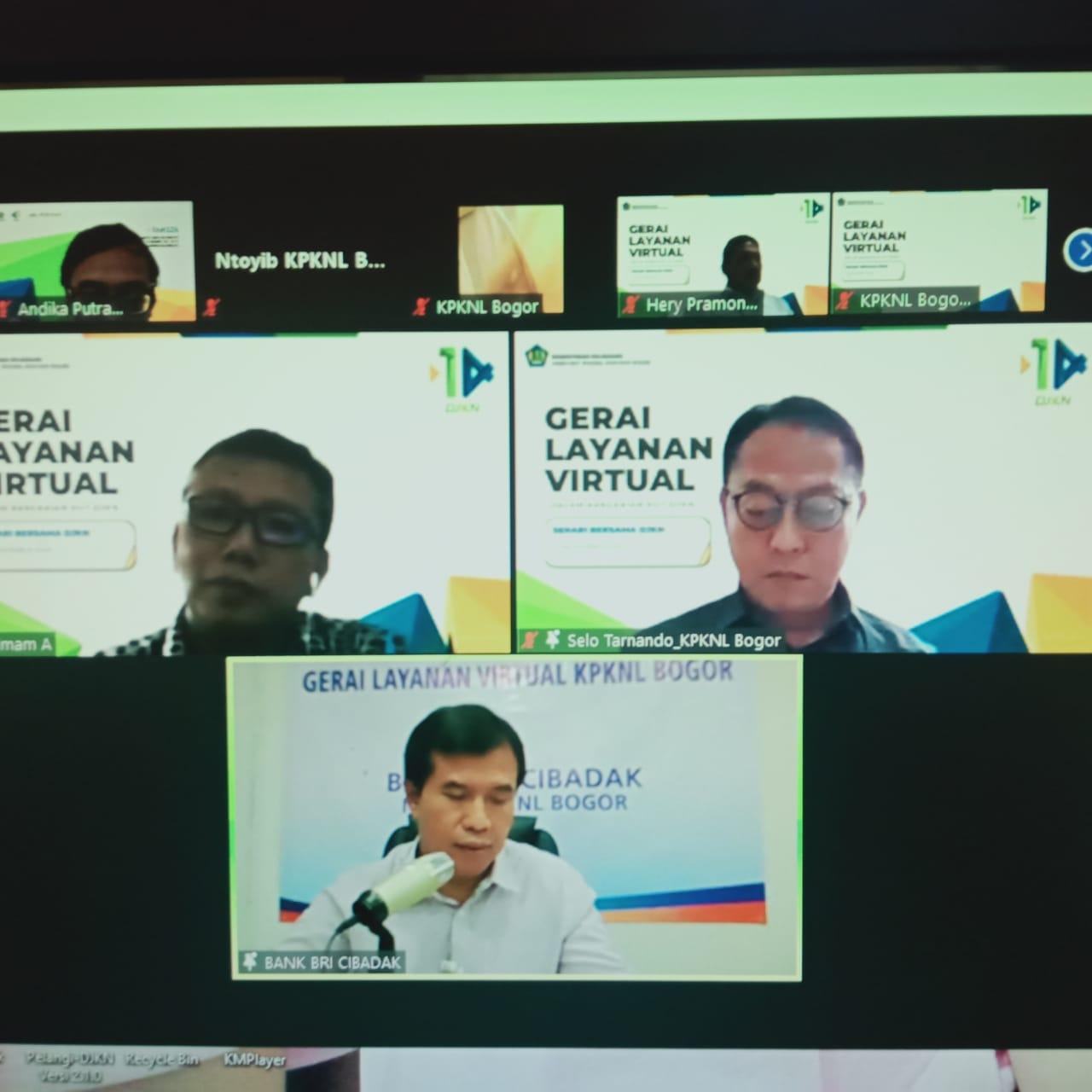 Gerai Layanan Virtual KPKNL Bogor dalam Semarakkan HUT Ke - 14 DJKN