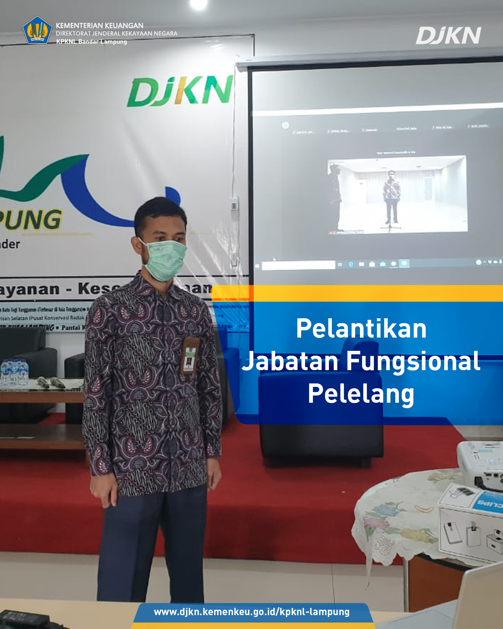 Pelantikan Jafung Pelelang KPKNL Bandar Lampung