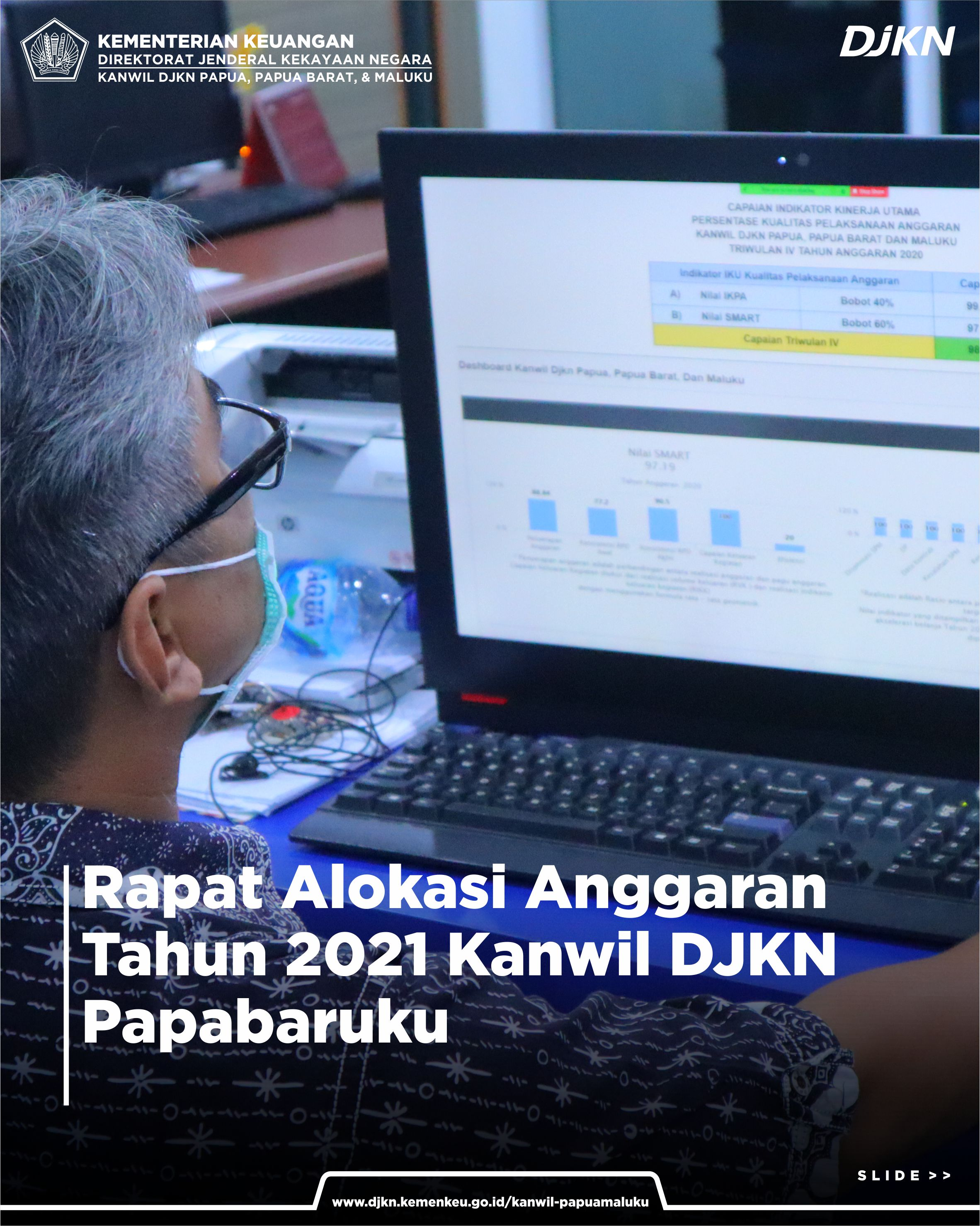 Rapat Alokasi Anggaran Tahun 2021 lingkup Kanwil DJKN Papabaruku