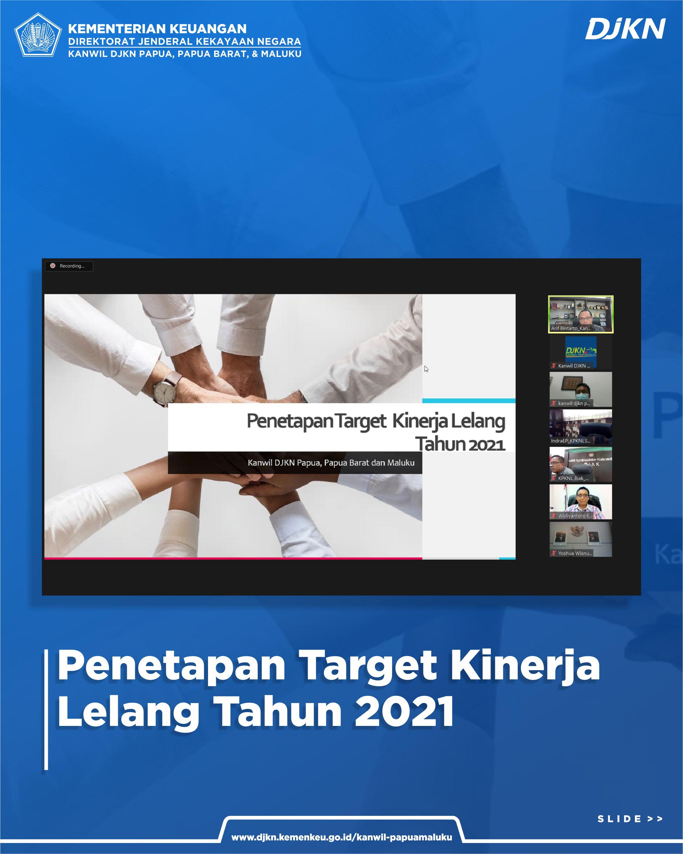 Rapat Penetapan Target Lelang Tahun 2021 Kanwil DJKN Papabaruku