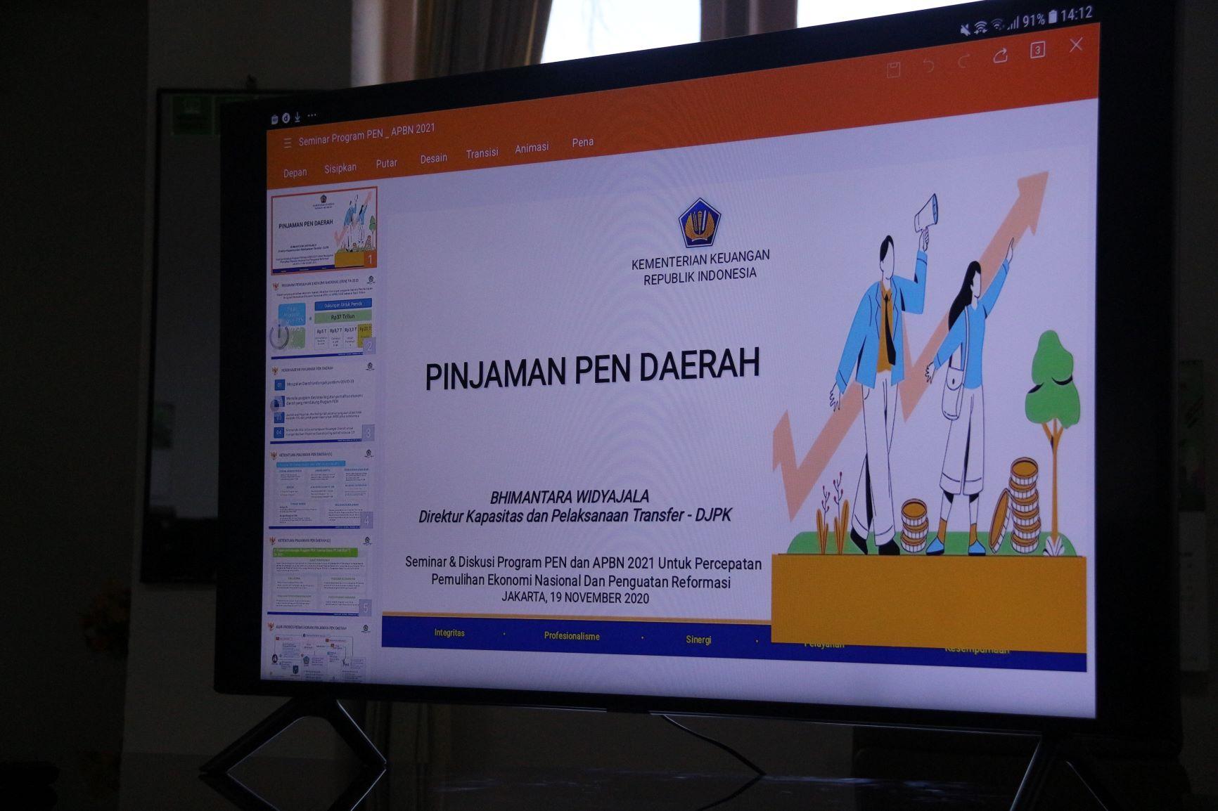 FGD Pejabat Administrator Triwulan IV Tahun 2020 dan Sosialisasi Anti Gratifikasi