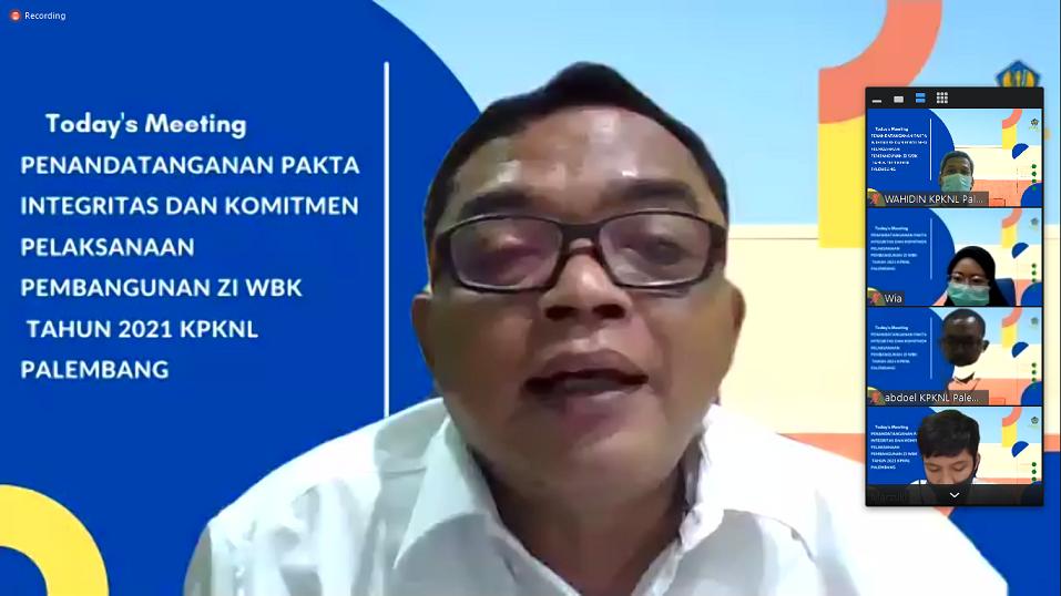 KPKNL Palembang Payo Bersiap Membangun ZI/WBK/WBBM