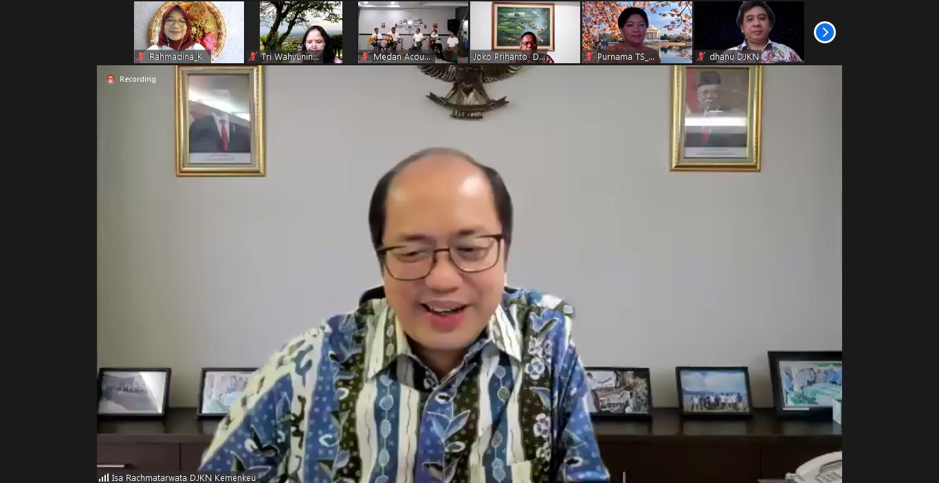 Kunjungan Dirjen KN ke KPKNL Medan, Warna Baru dalam Virtual Visit