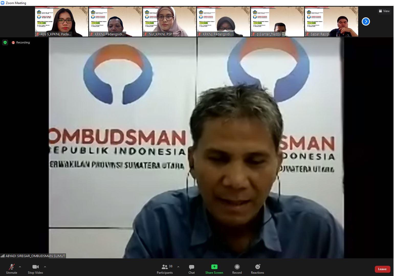KPKNL Padangsidimpuan mengadakan Knowledge Sharing: Pelayanan Publik harus dilakukan secara Prima, Cepat, Profesional, dan Berkeadilan