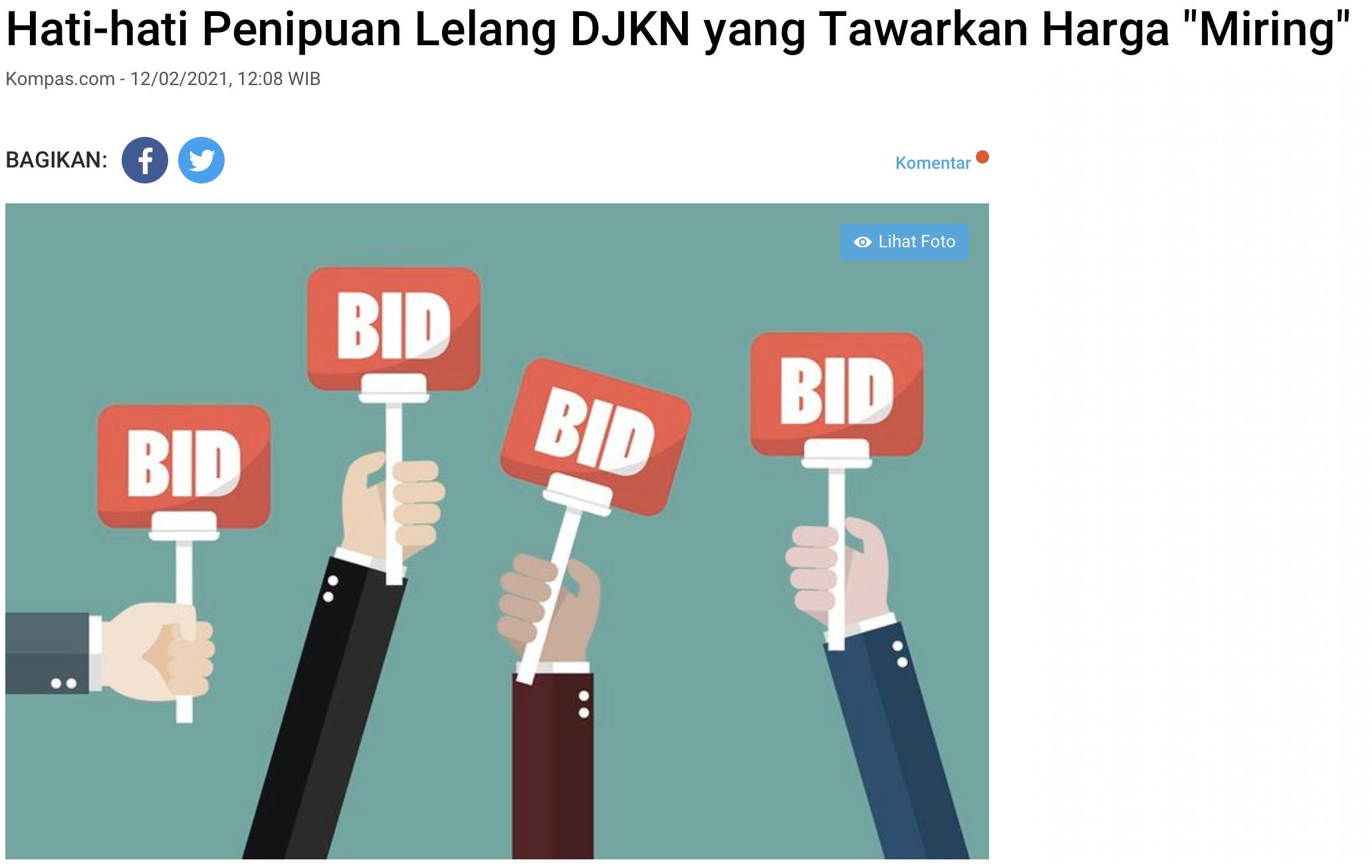 "Hati-hati Penipuan Lelang DJKN yang Tawarkan Harga ""Miring"""