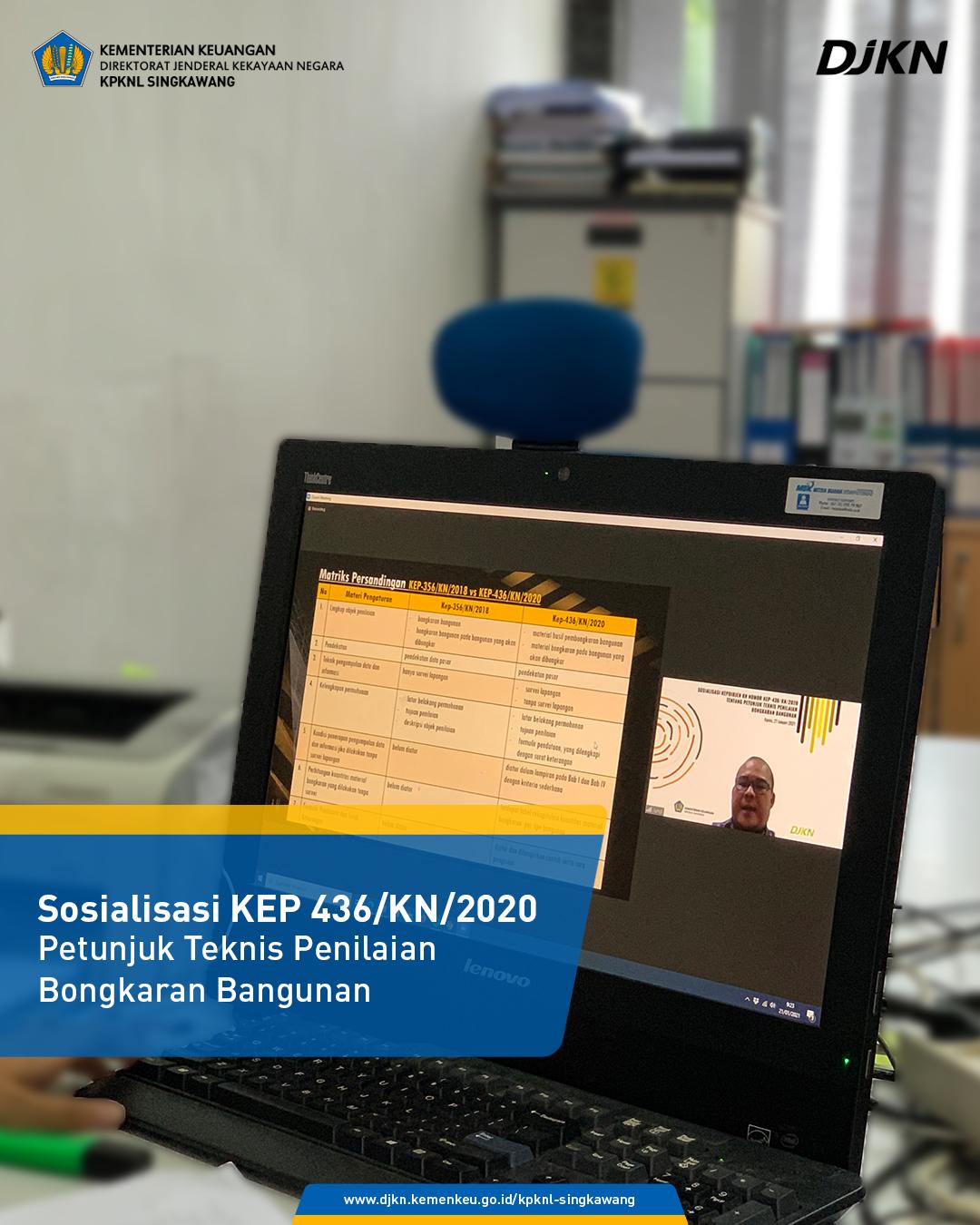 Sosialisasi KEP 436/KN/2020 oleh Direktorat Penilaian