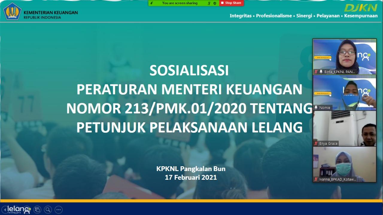 Juklak Lelang Baru, KPKNL Pangkalan Bun Adakan Sosialisasi Terhadap Stakeholder