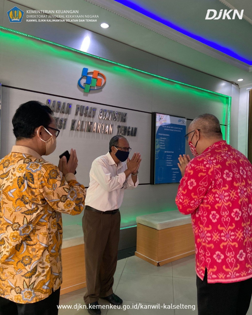 Lakukan Kunjungan Kerja ke Kalimantan Tengah, Kanwil Kalselteng Jalin Sinergi dan Koordinasi