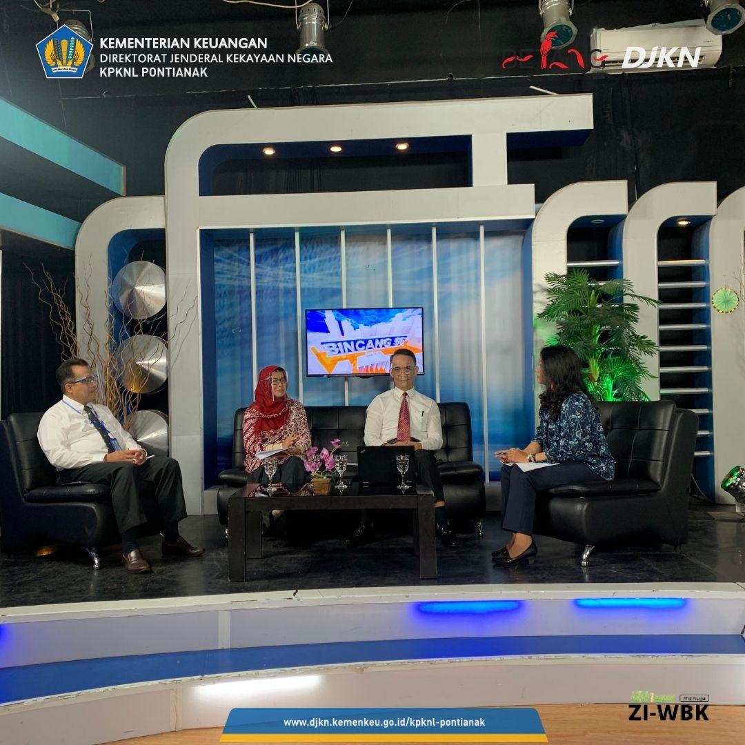 KPKNL Pontianak Bersama Kanwil DJKN Kalbar Sosialisasikan Keringanan Utang Melalui Program Acara Bincang 56 TVRI Kalimantan Barat