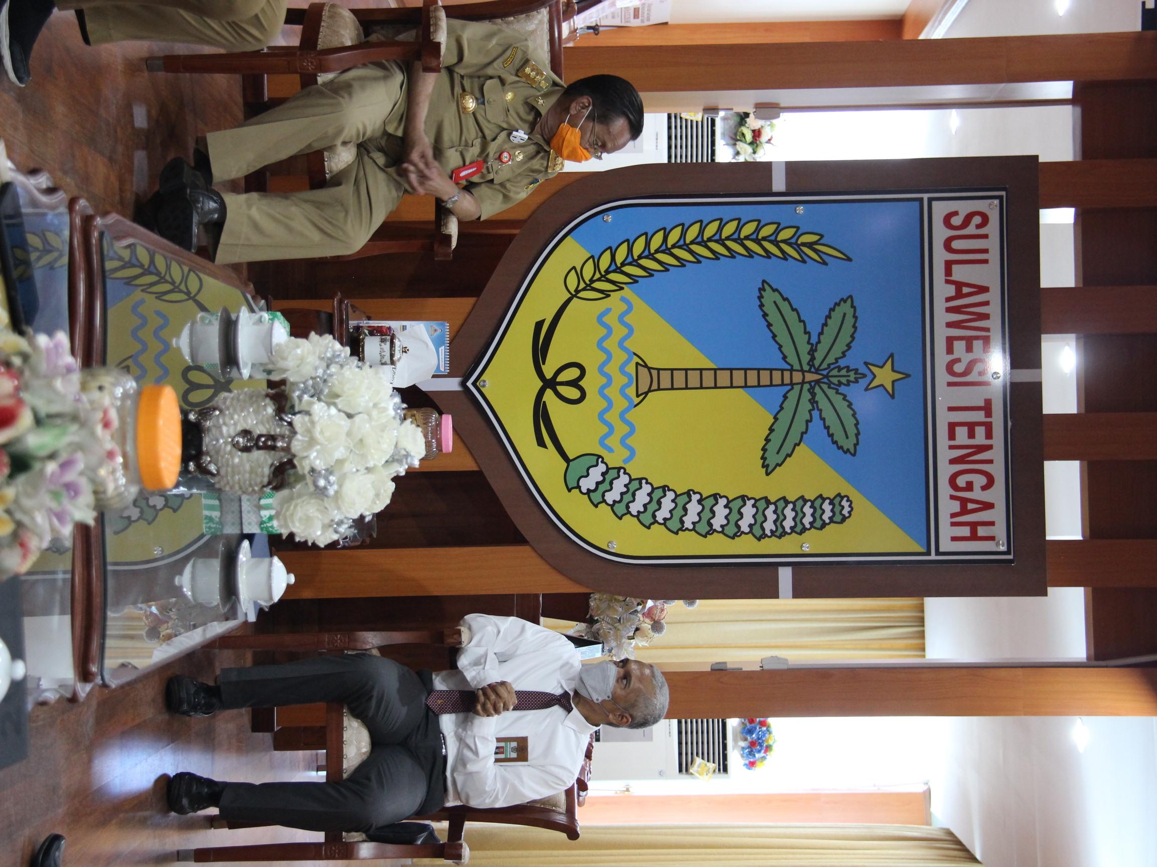 Sambangi Gubernur Sulawesi Tengah, KPKNL Palu Lakukan Koordinasi Lelang BMD Provinsi Sulawesi Tengah