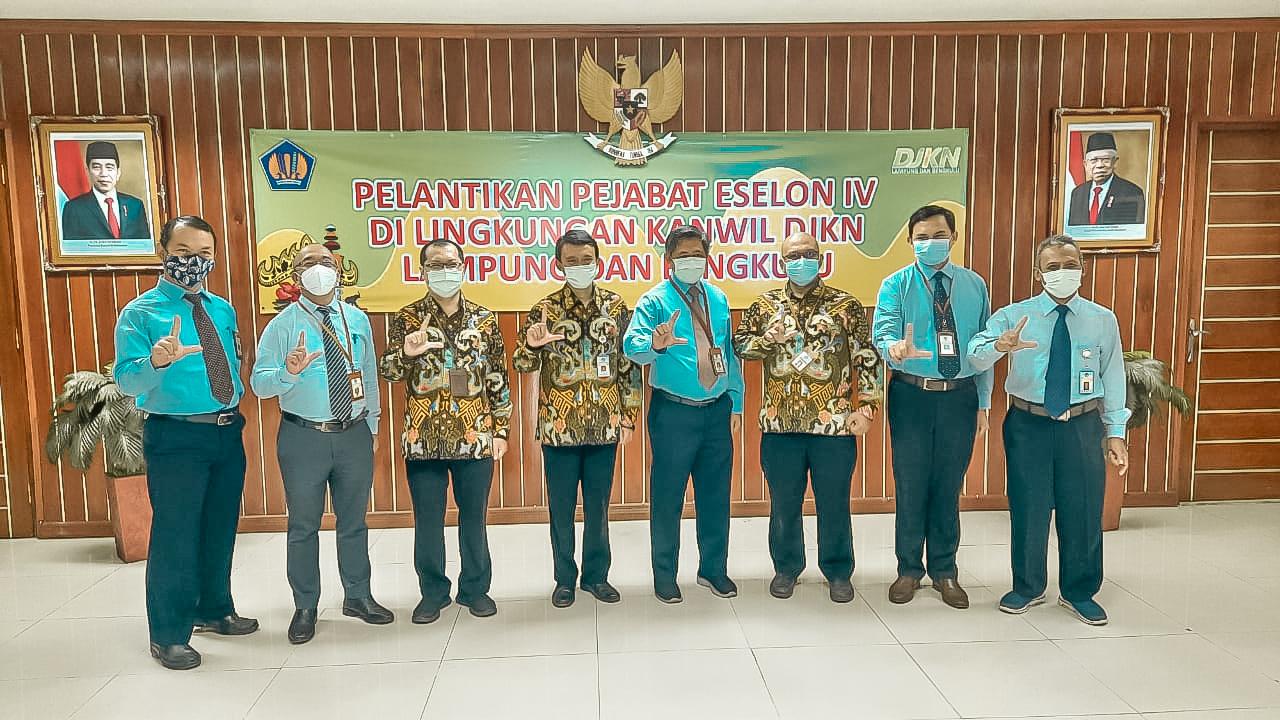 Pelantikan Pejabat Pengawas di Lingkungan Kanwil DJKN Lampung dan Bengkulu