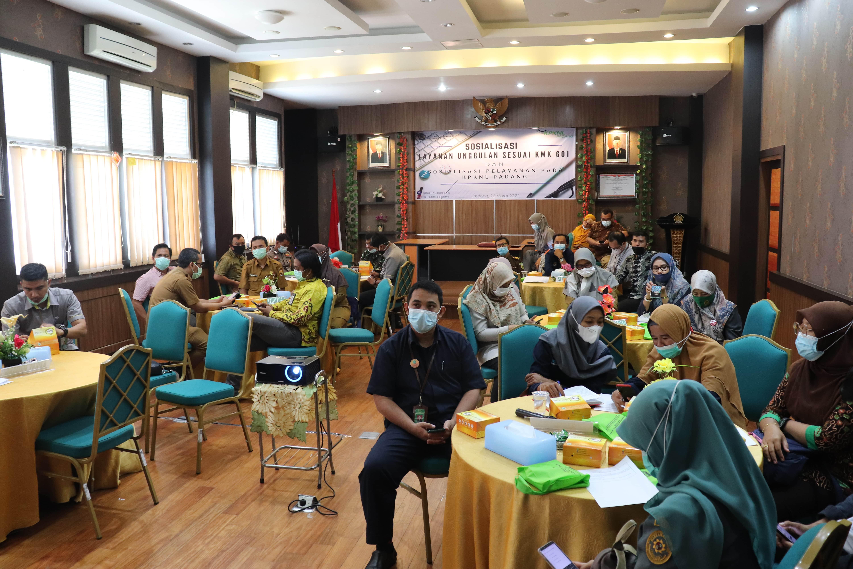 Sosialisasi Layanan Unggulan Sesuai KMK 601 dan Sosialisasi Pelayanan pada KPKNL Padang