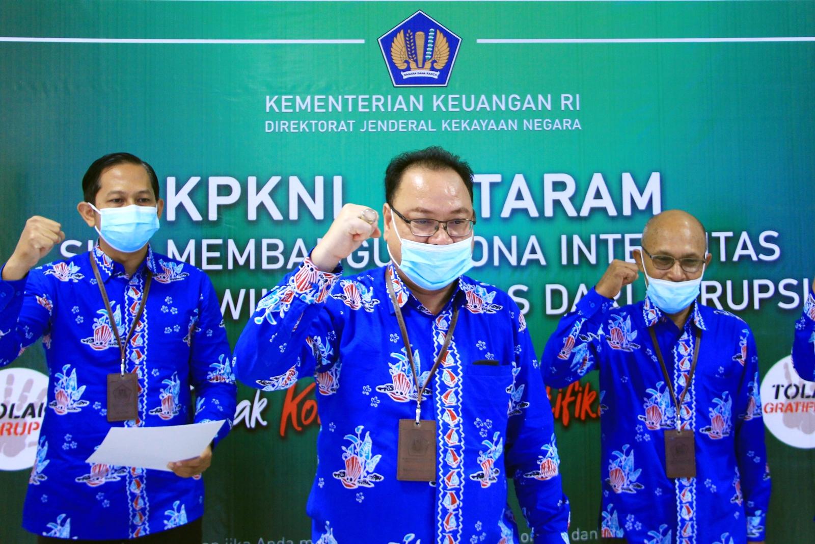 Dengan Tekad Bulat, KPKNL Mataram Selenggarakan Pencanangan Pembangunan Zona Integritas Menuju Wilayah Bebas dari Korupsi