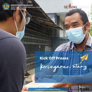 Kick Off Proses Keringanan Utang, KPKNL Pontianak Sambangi Para Debitur