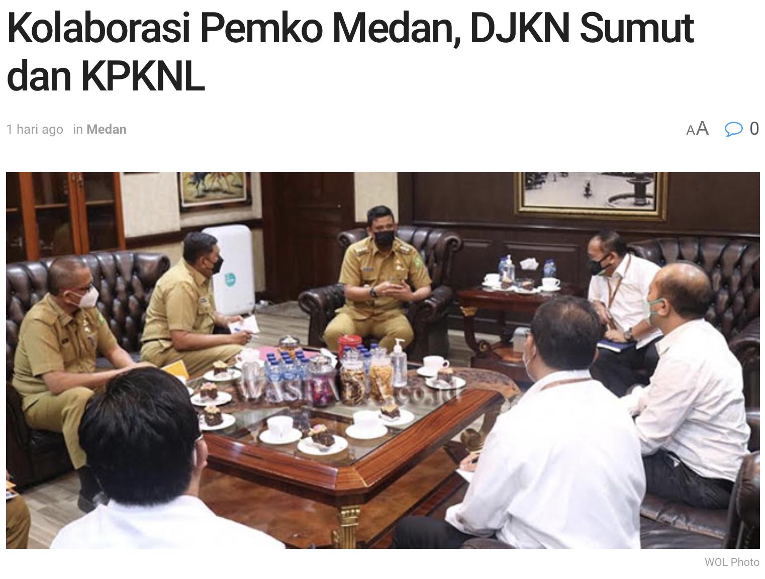 Kolaborasi Pemko Medan, DJKN Sumut dan KPKNL