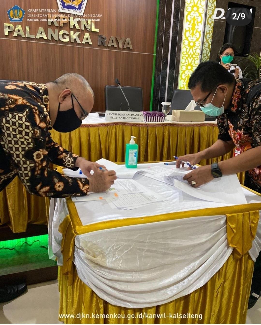 Kanwil DJKN Kalselteng Adakan MoU dengan Kanwil BPN Kalteng, Bentuk Sinergi Capai Target Program Sertipikasi BMN