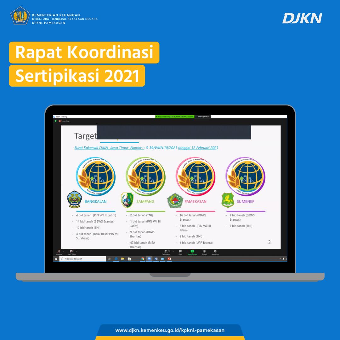 KPKNL – Kantah – Satker K/L Siap Sukseskan Program Sertipikasi BMN Tahun 2021