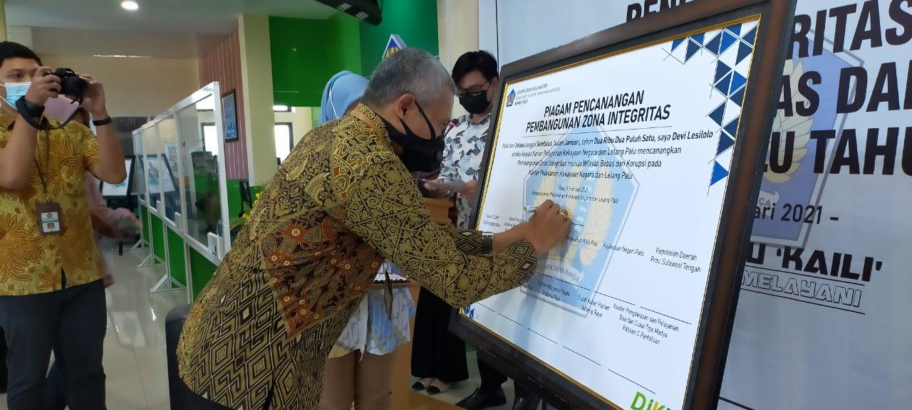 Perkenalkan Motto 'KAILI', KPKNL Palu Canangkan Pembangunan Zona Integritas WBK/WBBM
