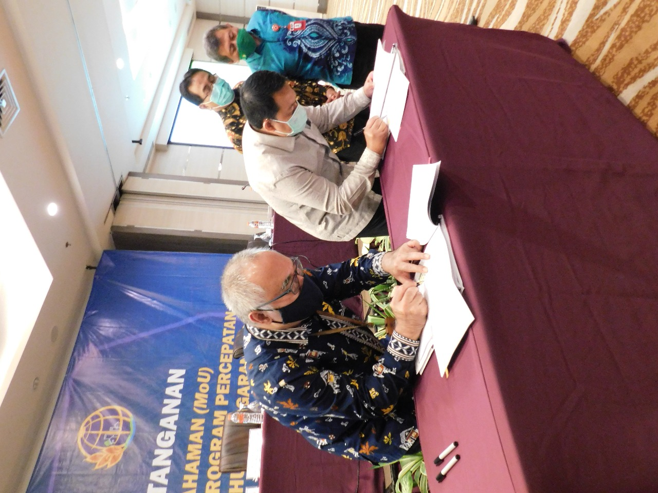 Tandatangani MoU, Kanwil DJKN Kalselteng Berkomitmen Sukseskan Program Percepatan Sertipikasi 2021