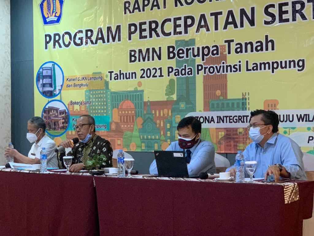 Rapat Koordinasi Percepatan Sertipikasi BMN Berupa Tanah Tahun 2021 Provinsi Lampung